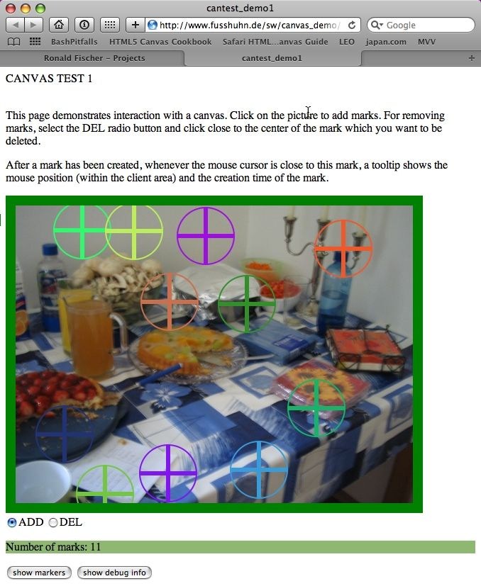 HTML5 Canvas Demo screenshot